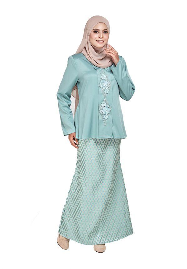 Zara Kurung Green (4)