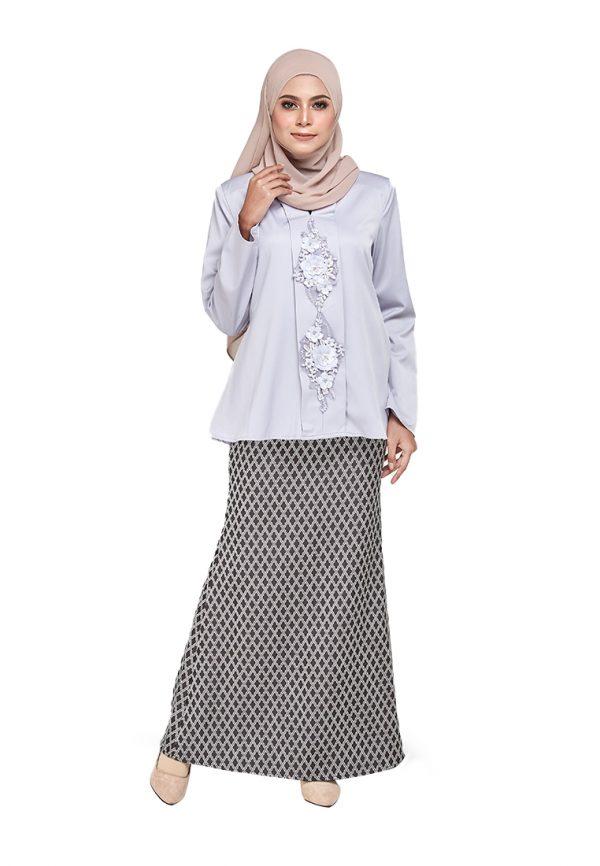 Zara Kurung Grey (1)