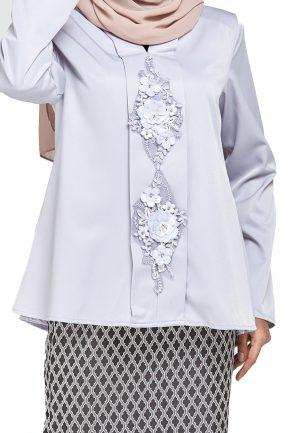 Zara Kurung Grey (2)
