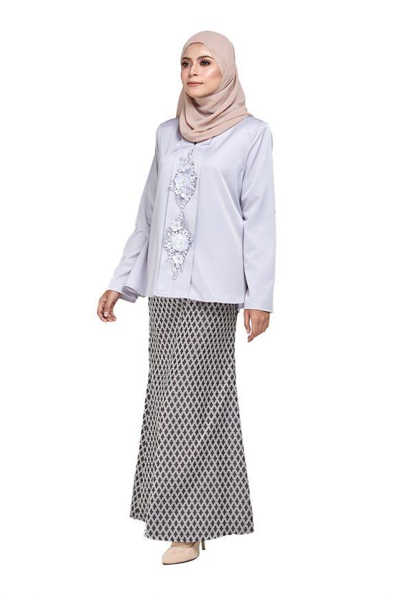 Zara Kurung Grey (4)