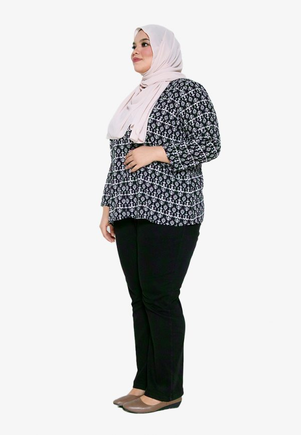 Hanya Blouse Plus Black 1