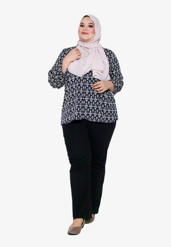 Hanya Blouse Plus Black 2