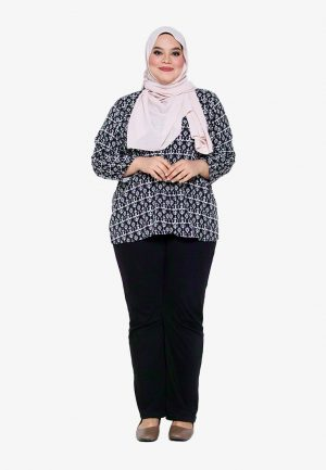 Hanya Blouse Plus Black 3