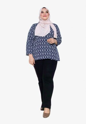 Hanya Blouse Plus Navy 2