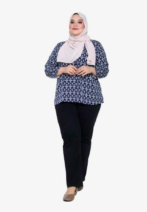 Hanya Blouse Plus Navy 3