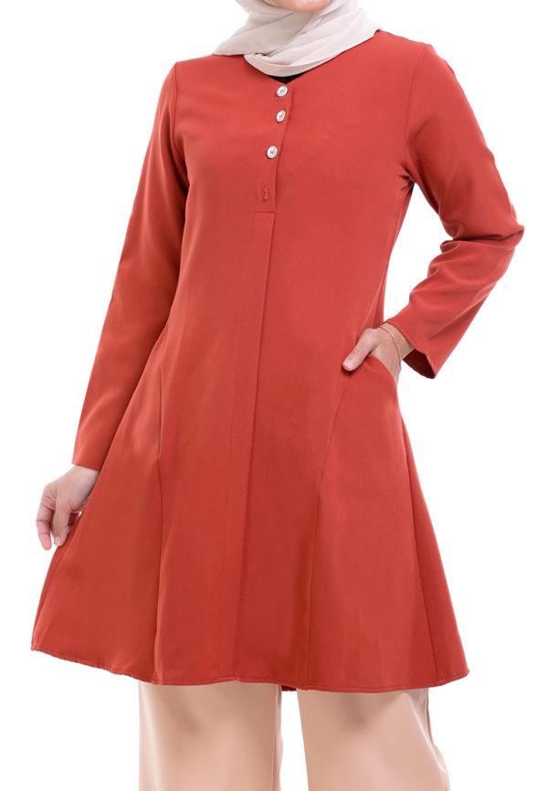 Melati Blouse Orange (2)
