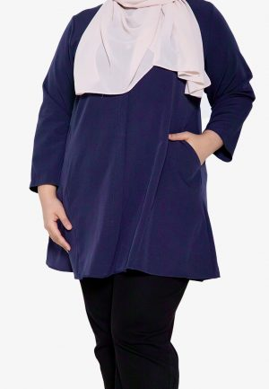 Melati Blouse Plus Navy 1