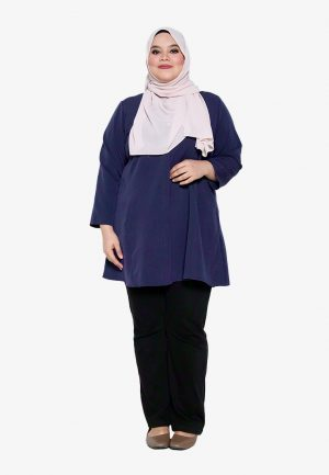 Melati Blouse Plus Navy 4