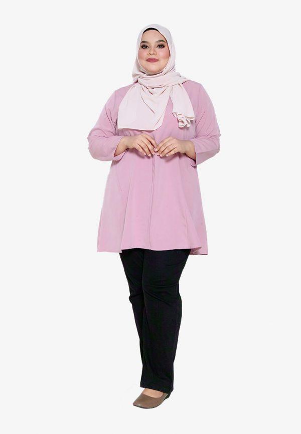Melati Blouse Plus Pink 4