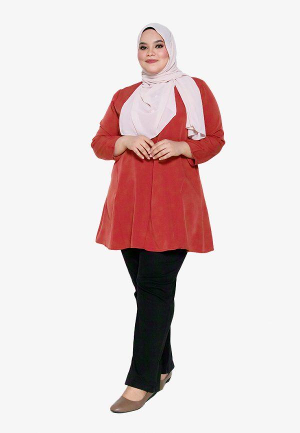 Melati Blouse Plus Red 2