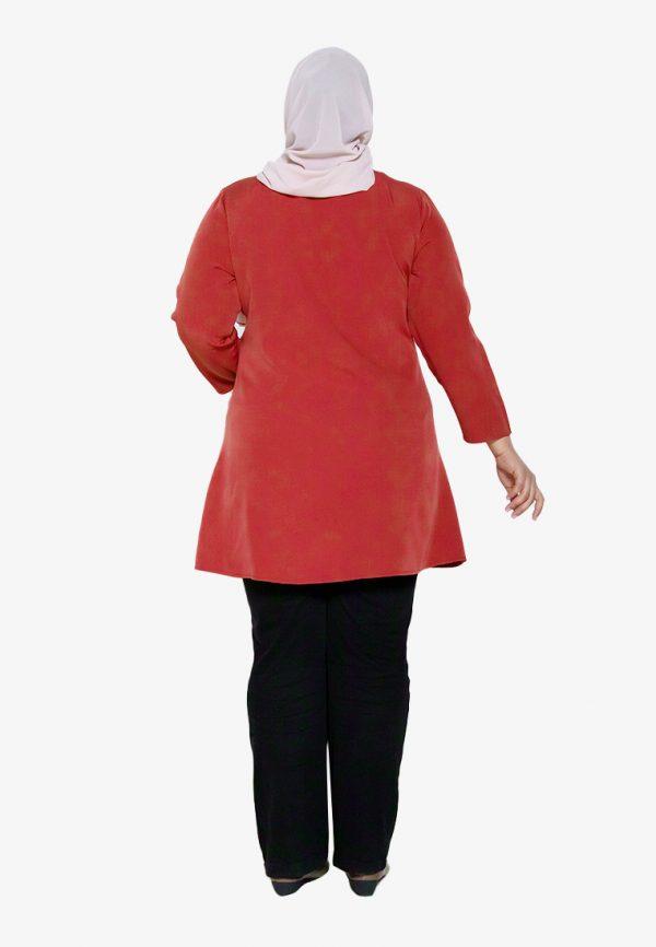 Melati Blouse Plus Red 3