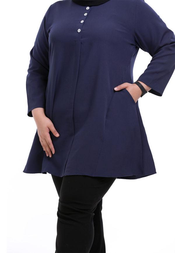 Melati Blouse Plus Blue (2)