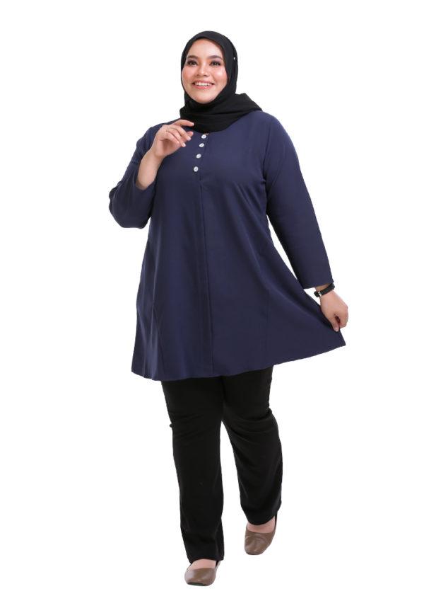 Melati Blouse Plus Blue (3)