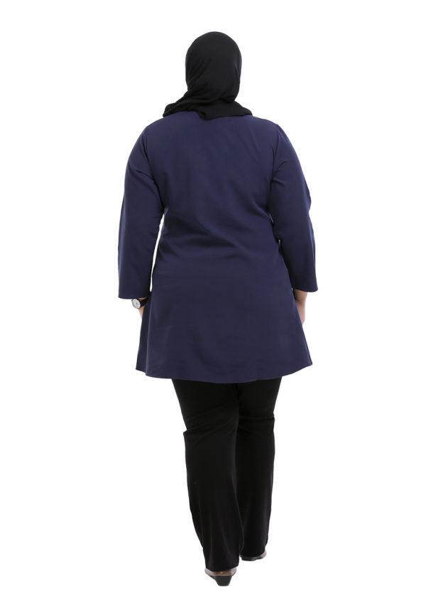 Melati Blouse Plus Blue (4)