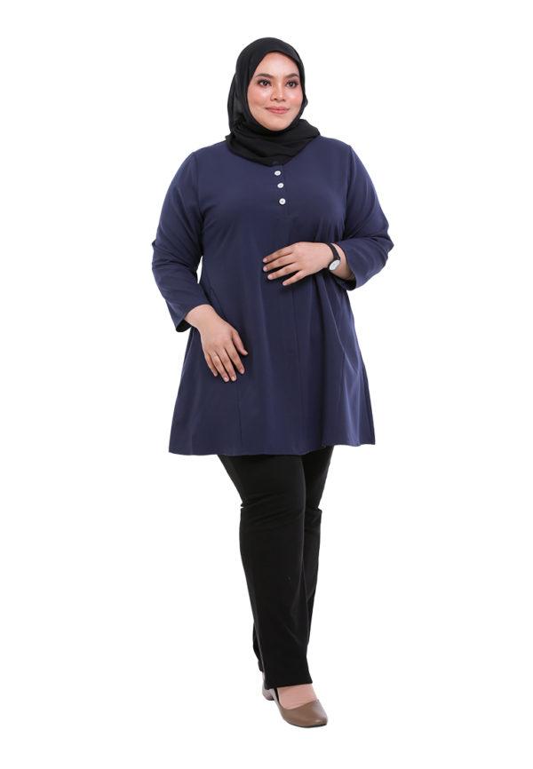 Melati Blouse Plus Blue (5)