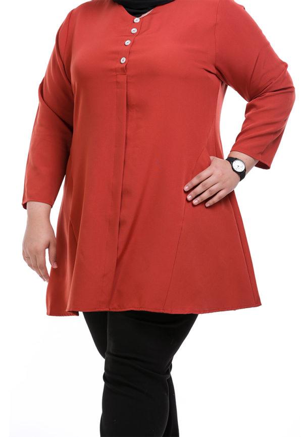 Melati Blouse Plus Orange (1)