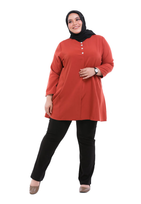 Melati Blouse Plus Orange (3)