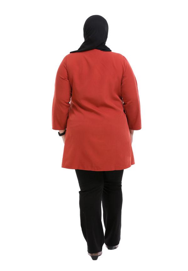 Melati Blouse Plus Orange (4)