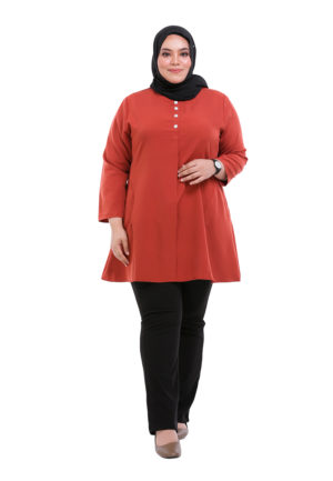 Melati Blouse Plus Orange (5)