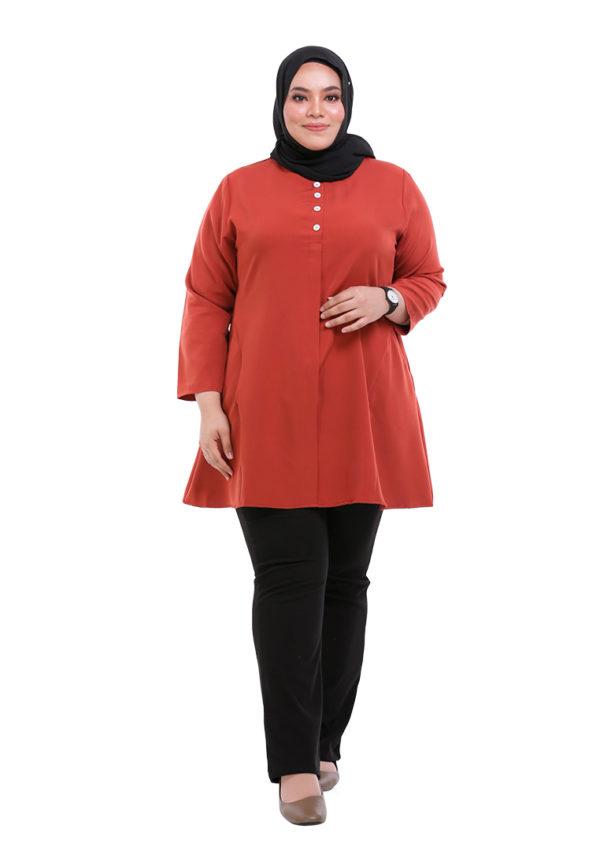 Melati Blouse Plus Orange (5)