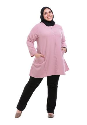 Melati Blouse Plus Pink (3)