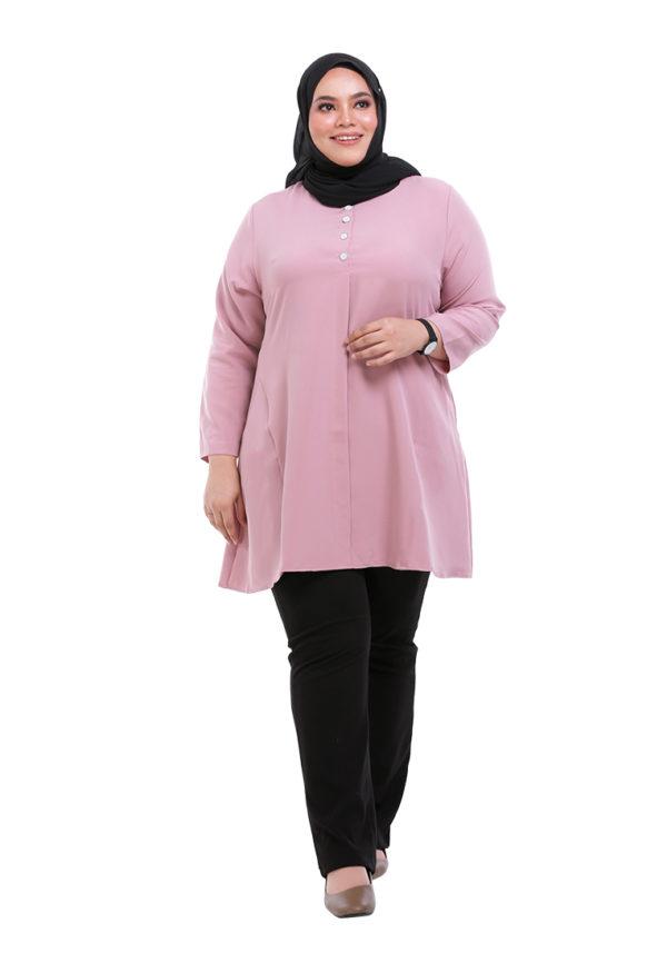 Melati Blouse Plus Pink (5)