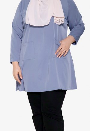 Natalia Blouse Plus Blue 1