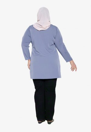 Natalia Blouse Plus Blue 3