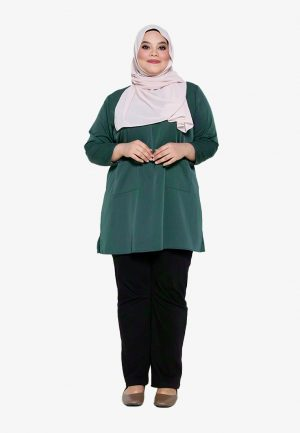 Natalia Blouse Plus Green 1