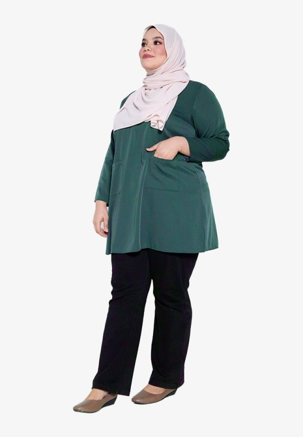 Natalia Blouse Plus Green 2
