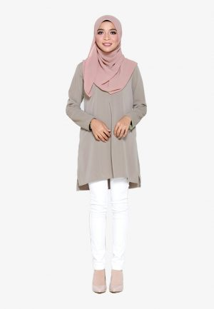 Vivan Blouse Mink Grey 2