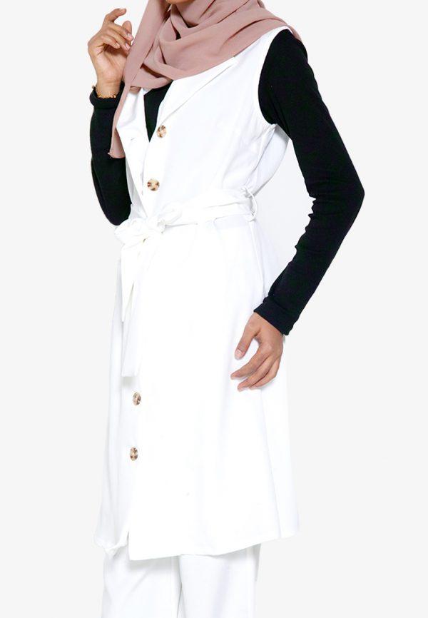 Yukil Cardigan White 3