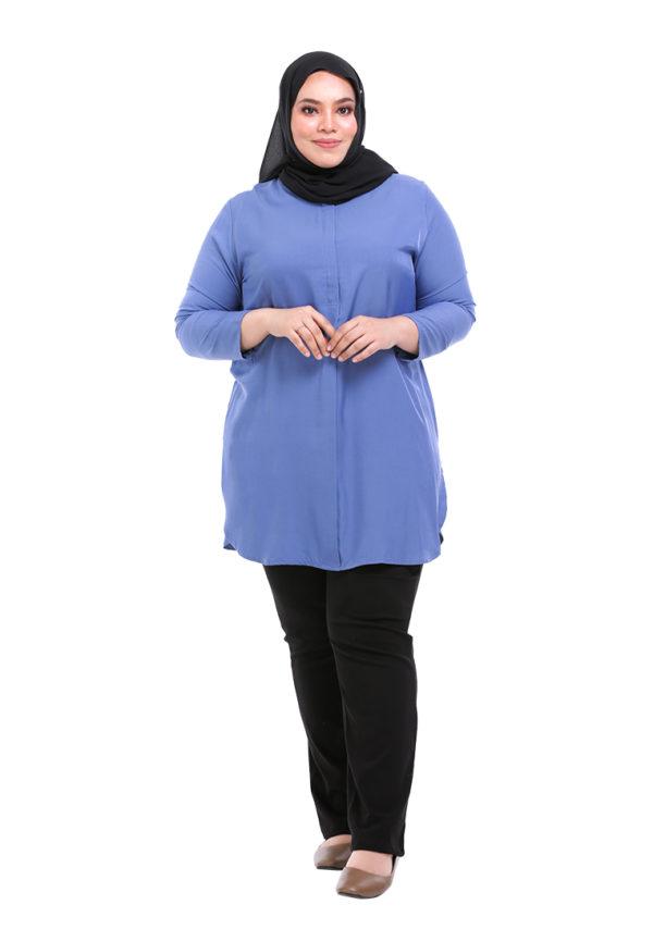 Dacla Blouse Plus Blue (1)