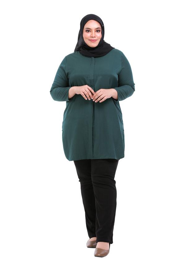 Dacla Blouse Plus Green (1)