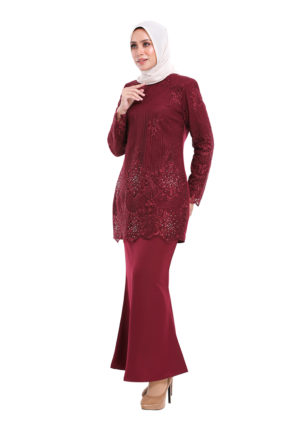 Rubee Kurung Red (4)