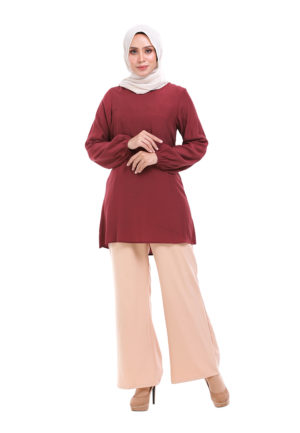 Sue Blouse Maroon 2