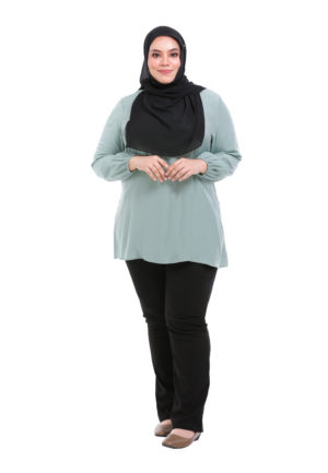 Sue Blouse Plus Green 1