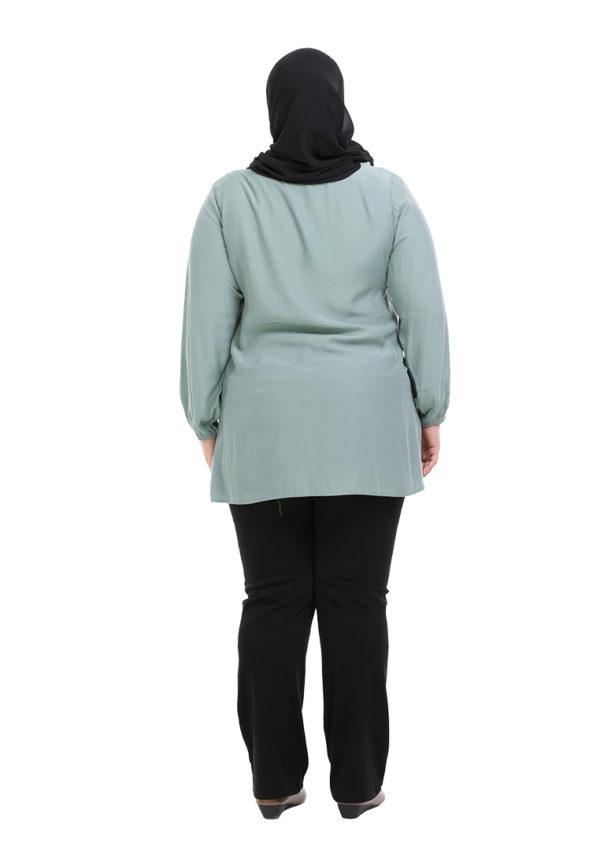 Sue Blouse Plus Green 2