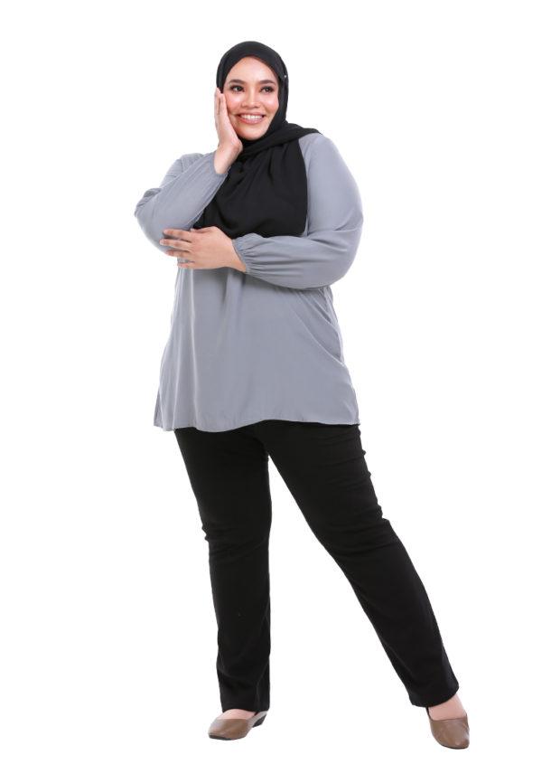 Sue Blouse Plus Grey 2