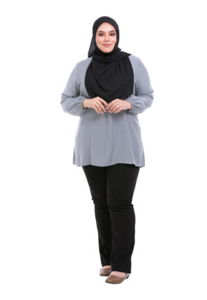 Sue Blouse Plus Grey 3