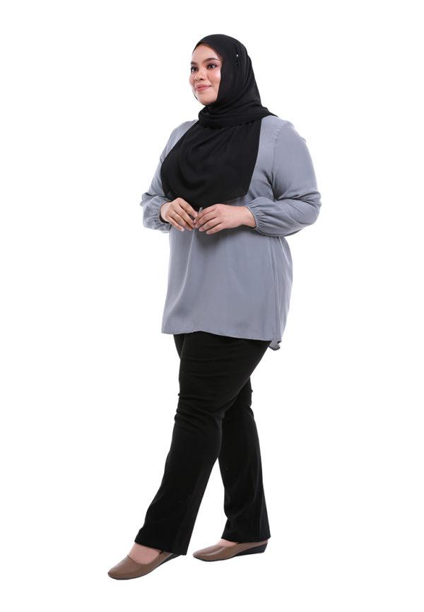 Sue Blouse Plus Grey 4