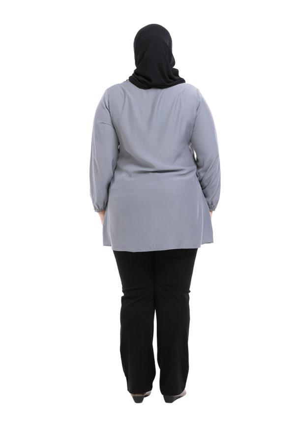 Sue Blouse Plus Grey 5