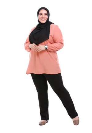 Sue Blouse Plus Peach 1