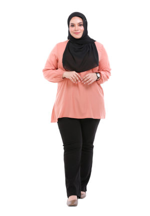 Sue Blouse Plus Peach 2